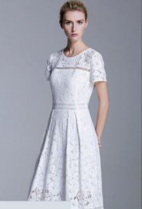 甜美珍珠外套+内搭蕾丝连衣裙休闲运动装